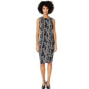 Asos grey/black midi dress large